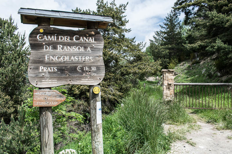 Cartel informativo del camino de Encamp a Prats