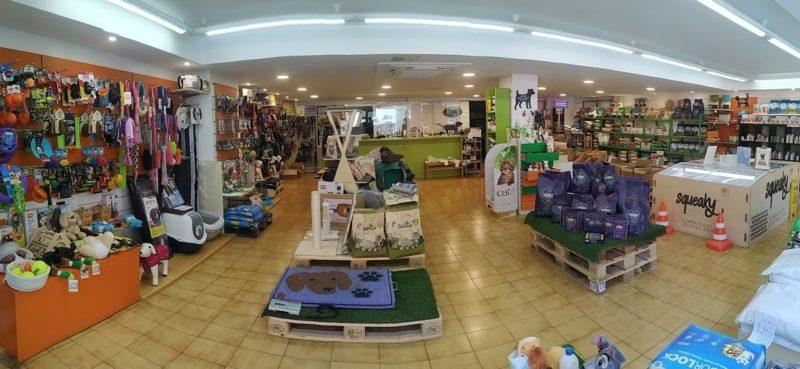 Interior tienda para perros