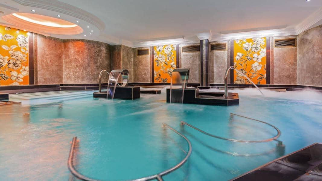 Vistas del interior del spa