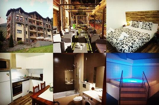 Mosaico de imagenes del hotel, bar, habitaciones, spa